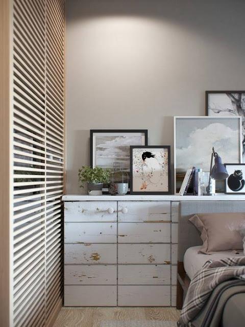 Ontwerper Jenya Likasova ontwerpt slaapkamer met inloopkast