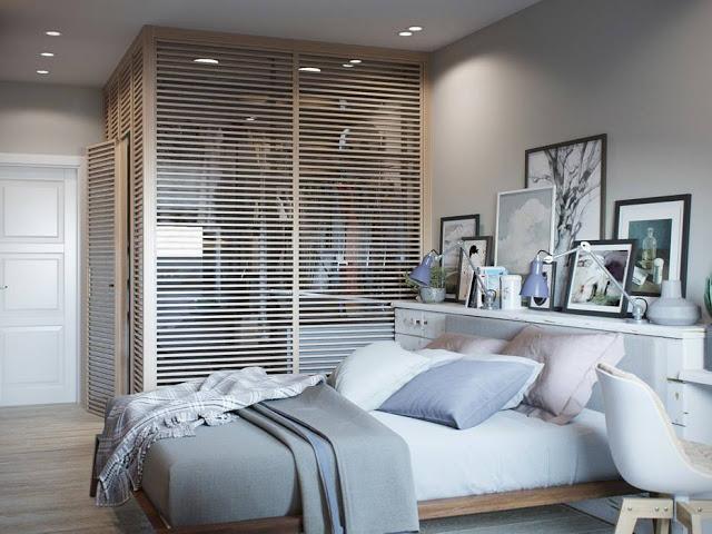 Ontwerper Jenya Likasova ontwerpt slaapkamer met inloopkast ...