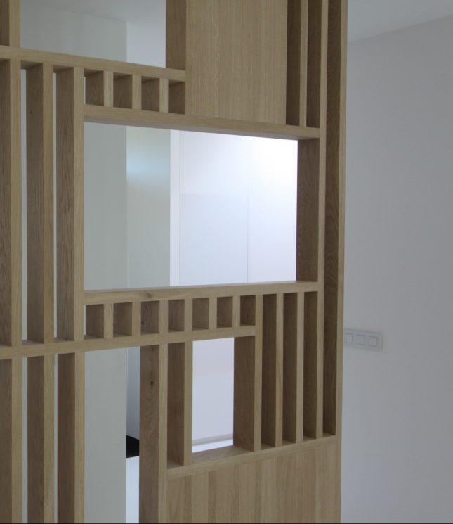 Op maat gemaakte roomdivider tussen keuken en woonkamer ...