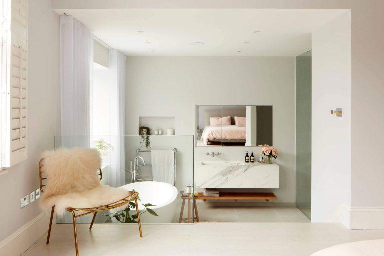 open-badkamer-slaapkamer-suite