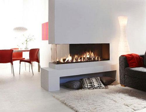Openhaard In Woonkamer : Roomdevider in woonkamer finest open haard roomdevider with