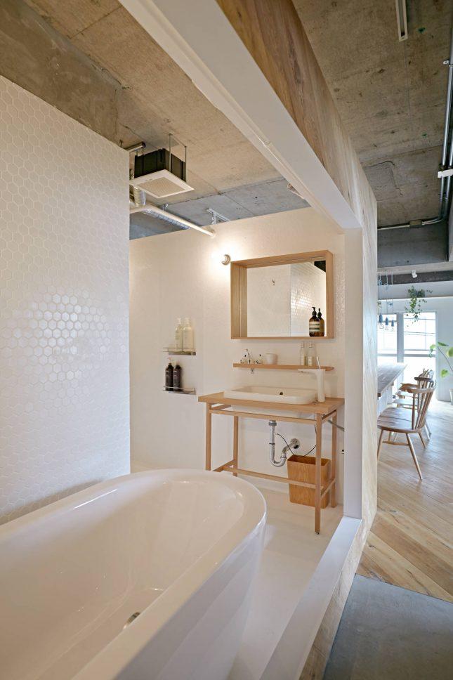 Open japanse badkamer interieur inrichting - Open badkamer ...