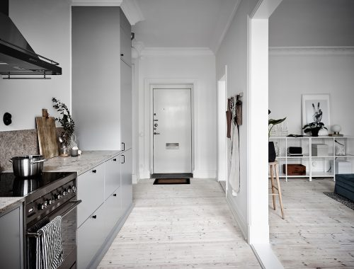 Open keuken in de hal