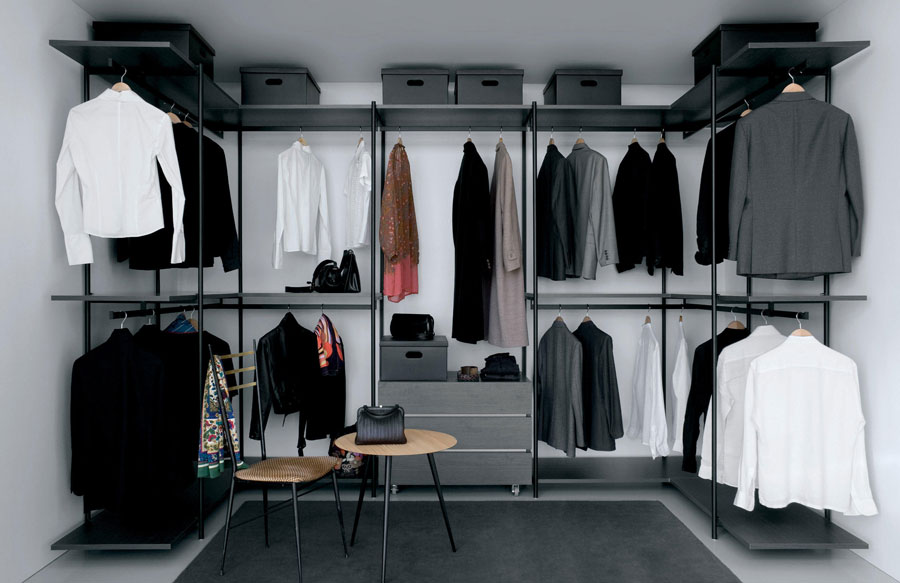 Open kledingkasten interieur inrichting - Appendiabiti per cabina armadio ...