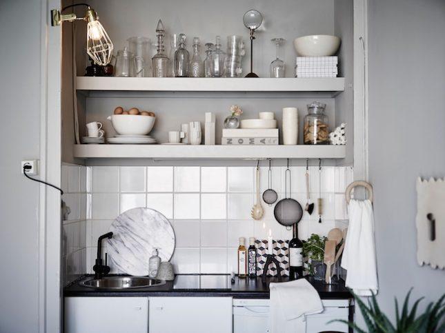 open planken keuken