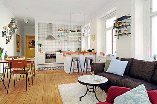 Open woonkamer indeling