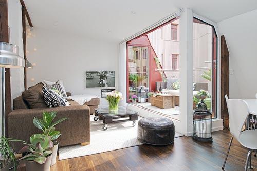 Open woonkamer met mooie details   Interieur inrichting