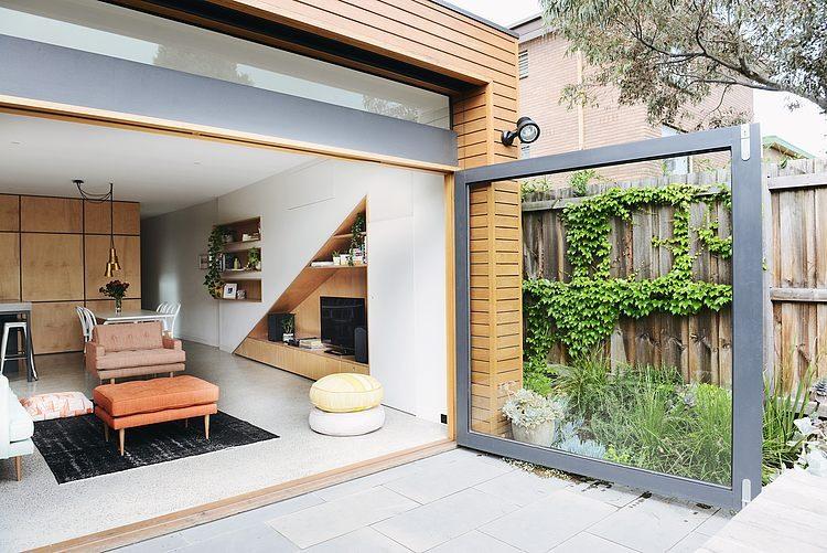 Openslaande deuren naar de tuin