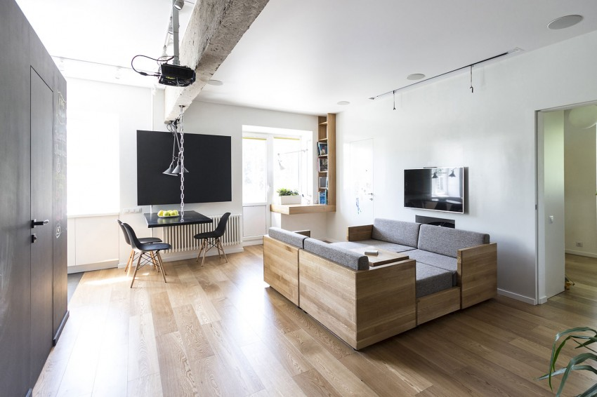 Woonkamer Inrichten Spellen : Originele multifunctionele woonkamer interieur inrichting