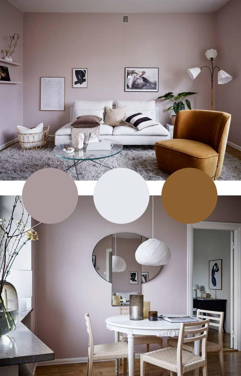 oud roze combineren kleuren woonkamer eethoek