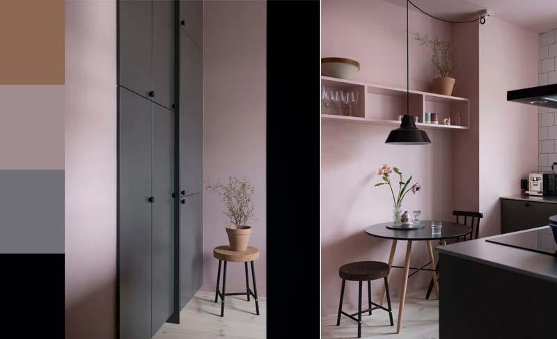 oude roze combineren keuken