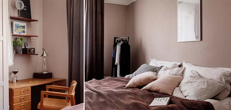 oude roze muren slaapkamer