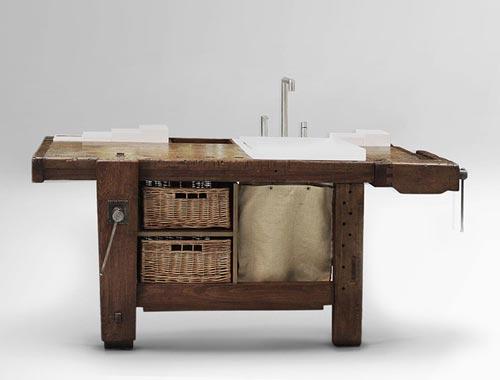 Houten Keuken Werktafel : Oude werktafel wordt WasmeubelInterieur inrichting Interieur