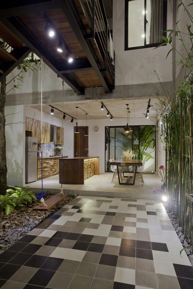 Overdekte binnentuin uit Vietnam