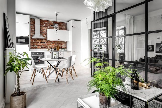 overgang visgraat vloer woonkamer normale houten vloer keuken