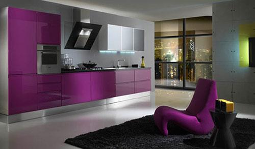 Paarse Slaapkamer Inrichten : Paarse keukens interieur inrichting