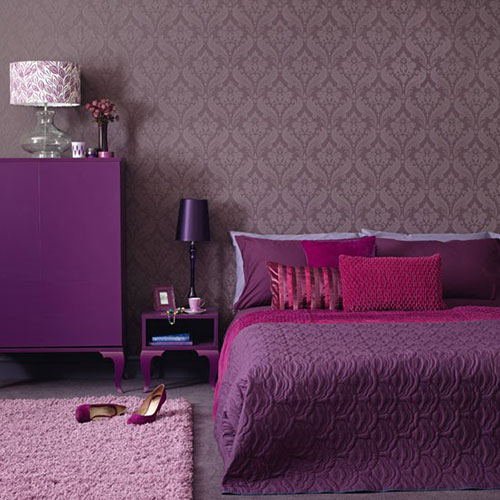Mooie kleurencombinaties slaapkamer interieur inrichting for Purple and brown bedroom designs