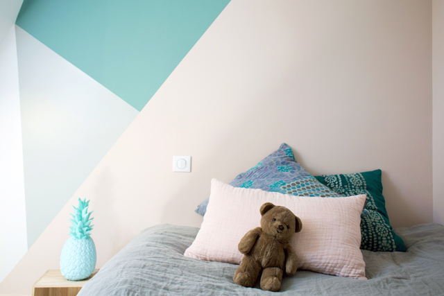Pastelkleuren in mooie kinderkamer interieur inrichting