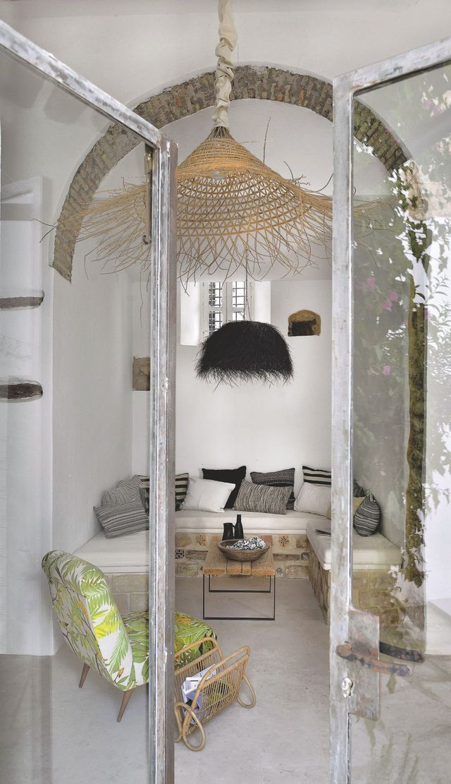 Patio tuin van modeontwerper Manon Martin