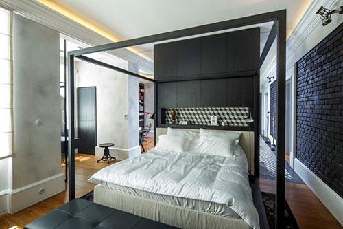 Penthouse loft slaapkamer interieur inrichting for Loft interieur