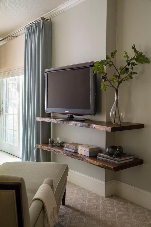 Zwevende Plank Onder Tv.18x Plank Als Tv Meubel Interieur Inrichting
