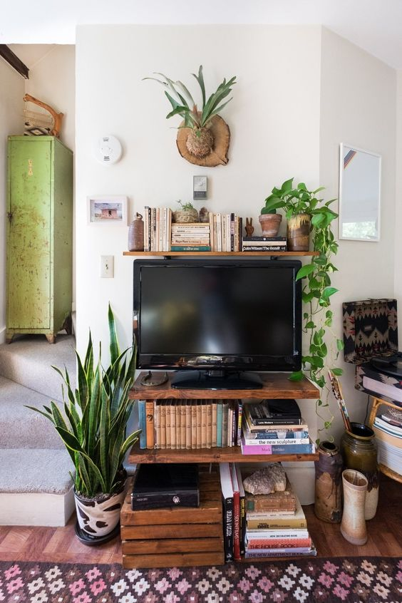Plank als TV meubel