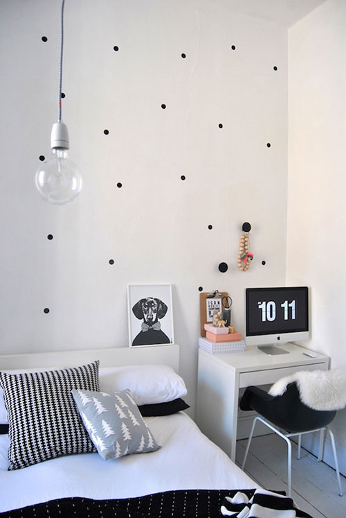 Polka dots in interieur