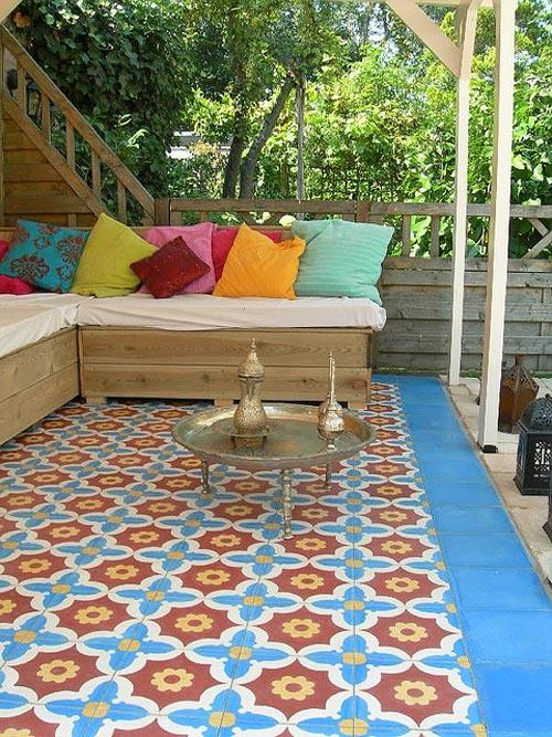 Het is zelf mogelijk om je steigerhouten meubels te bekleden met de ...