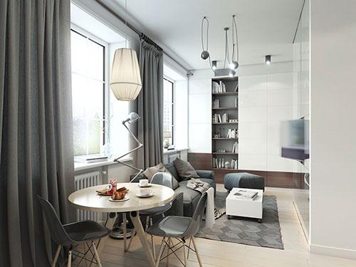 Praktische inrichting van klein appartement   Interieur inrichting