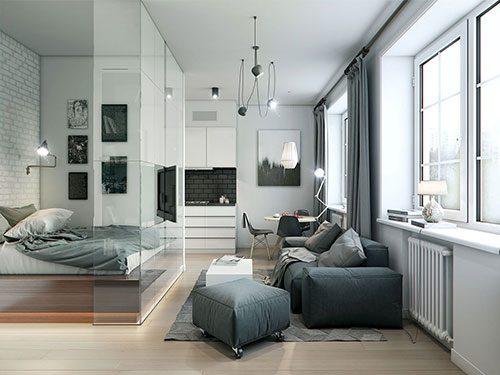 Praktische inrichting van klein appartement