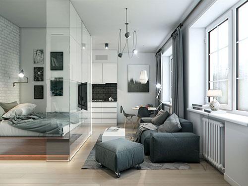 Praktische inrichting van klein appartement interieur for Inrichting kleine woning