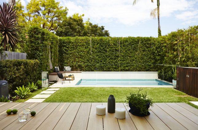 Praktische moderne tuin met zwembad interieur inrichting - Tuin met zwembad design ...