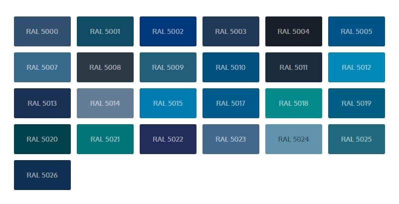 RAL kleuren blauw