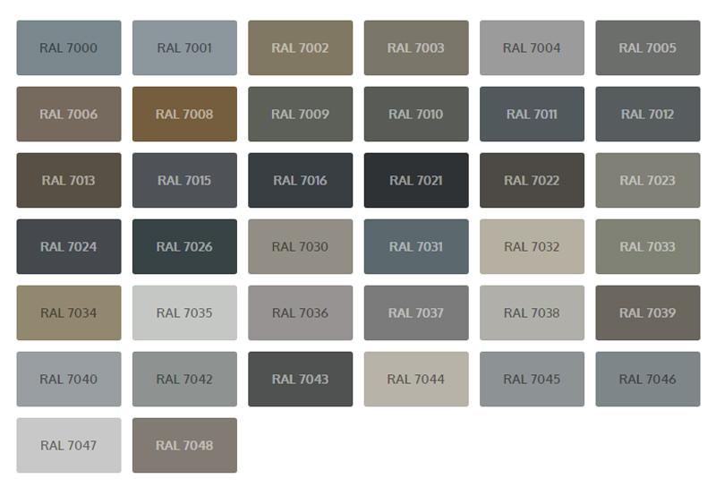 ral kleuren grijs