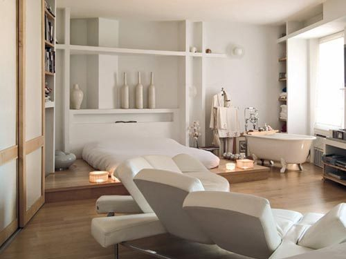 Relaxte open slaapkamer interieur inrichting for Camere da letto minimal chic
