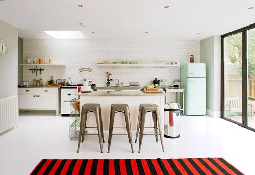 retro koelkastinterieur inrichting  interieur inrichting, Meubels Ideeën