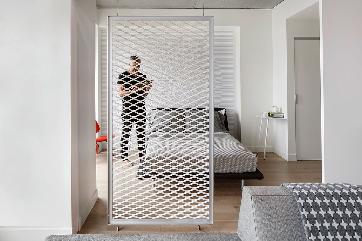 Roomdivider Van Leer Interieur Inrichting