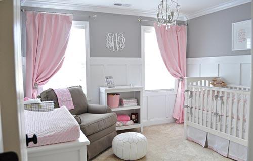 Ideeen Roze Kinderkamer : Roze babykamer interieur inrichting
