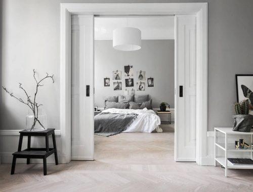 Perfecte Kamer Inloopkast : Perfecte slaapkamer met inbouwkast van een klein appartement van