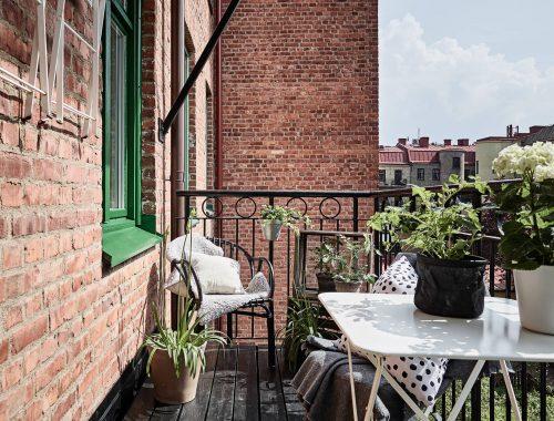 Ruimte besparen op een klein balkon