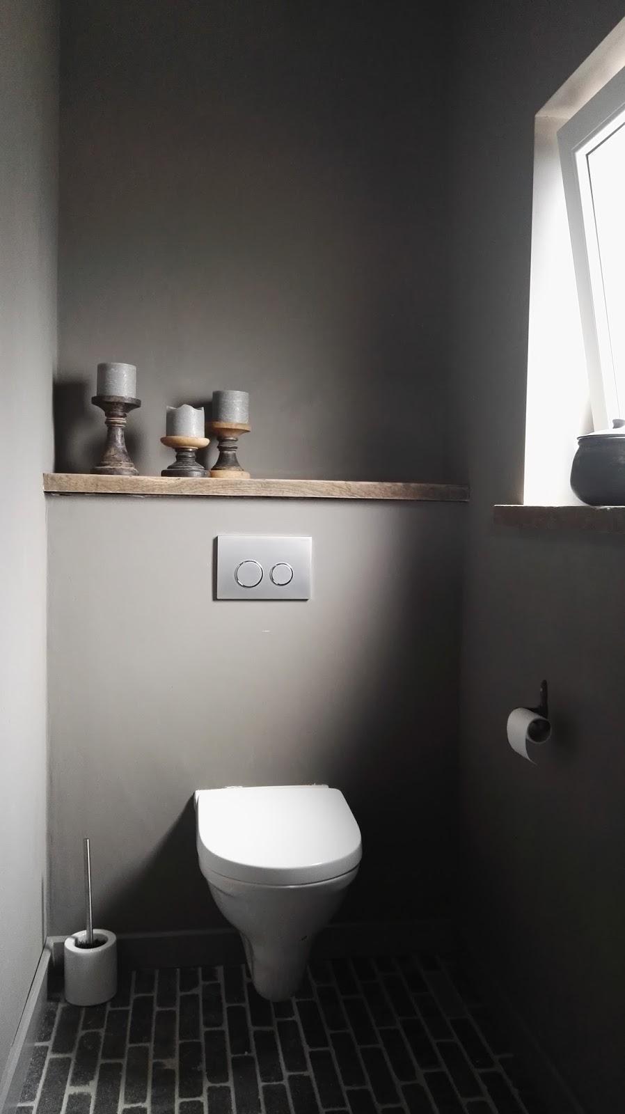 Rustiek landelijk toilet van judith interieur inrichting - Rustieke wc ...