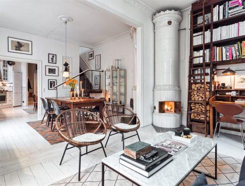 Rustiek Scandinavisch interieur
