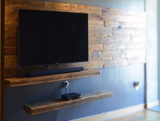 rustieke houten plank tv meubel