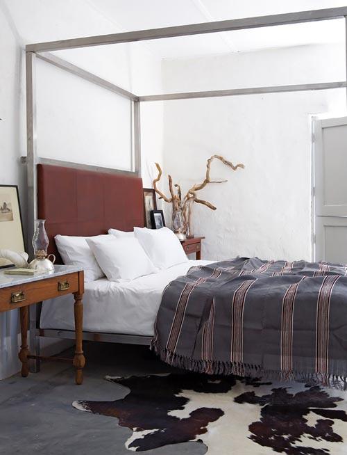 Rustieke slaapkamer van boerderij