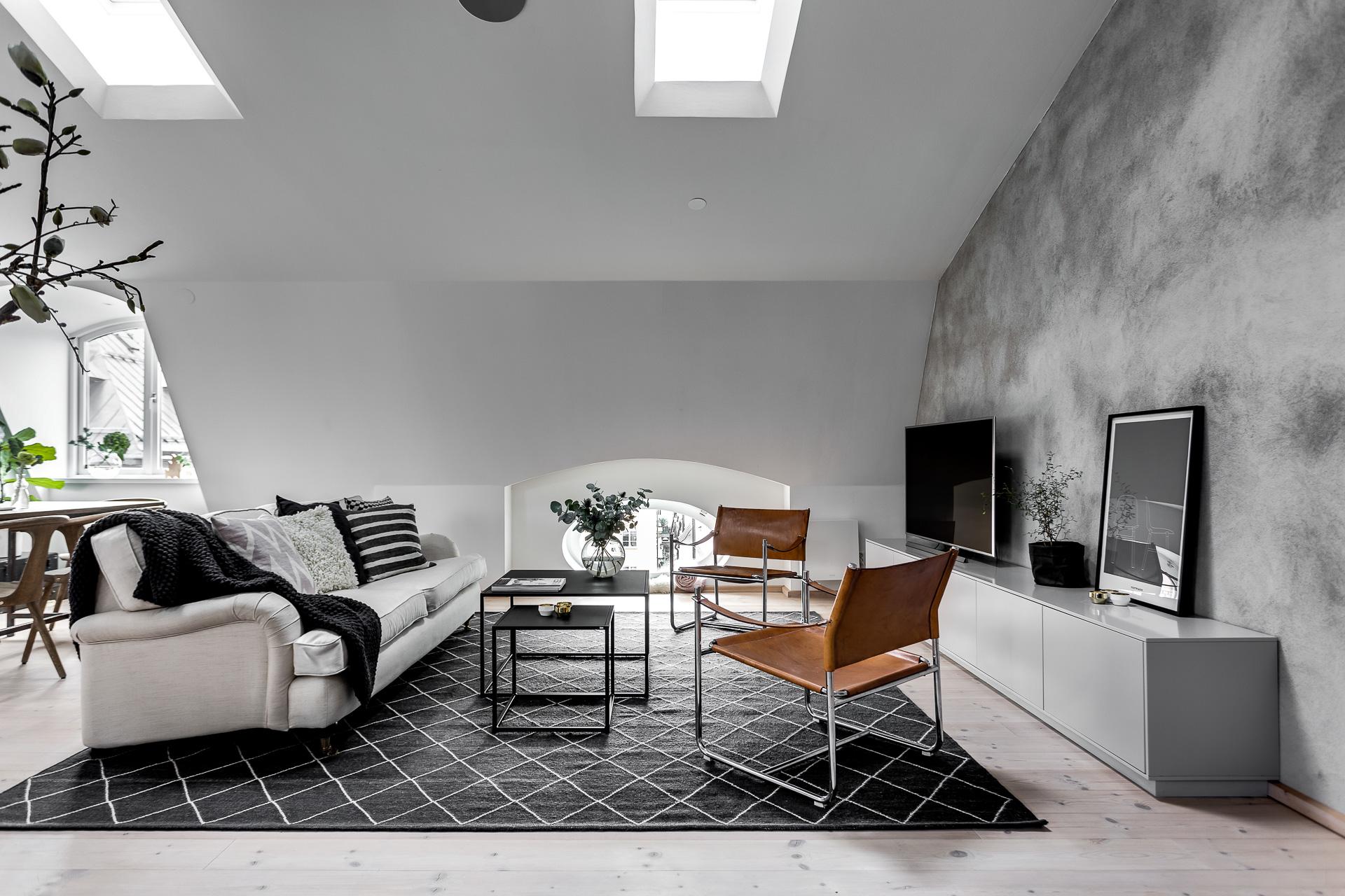 Scandinavisch duplex appartement met een industrieel for Interieur inrichting