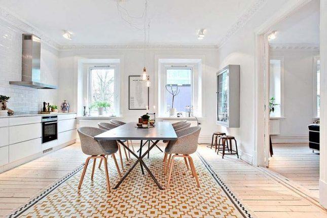 scandinavisch interieur woonkeuken