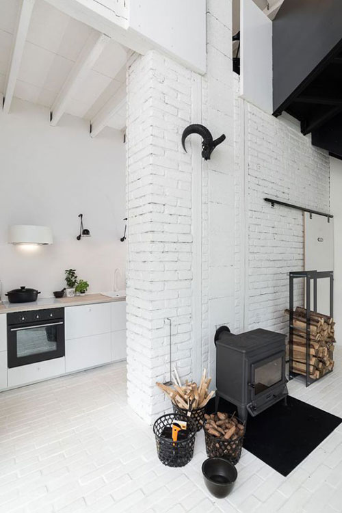Scandinavisch witte keuken van OOOOX architecten  Interieur ...