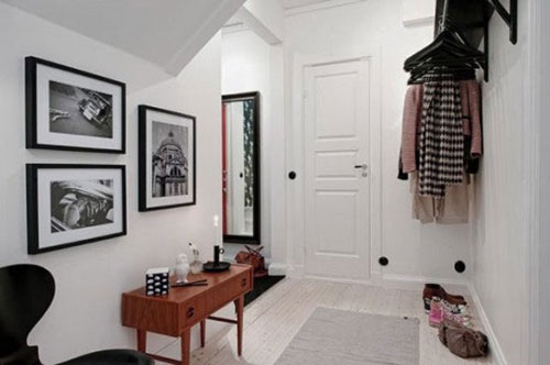 Scandinavische hal interieur inrichting - Originele toilet decoratie ...
