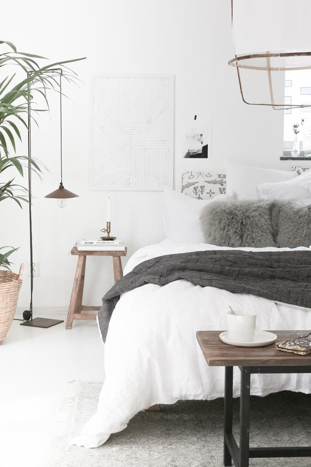 Scandinavische herfst slaapkamer