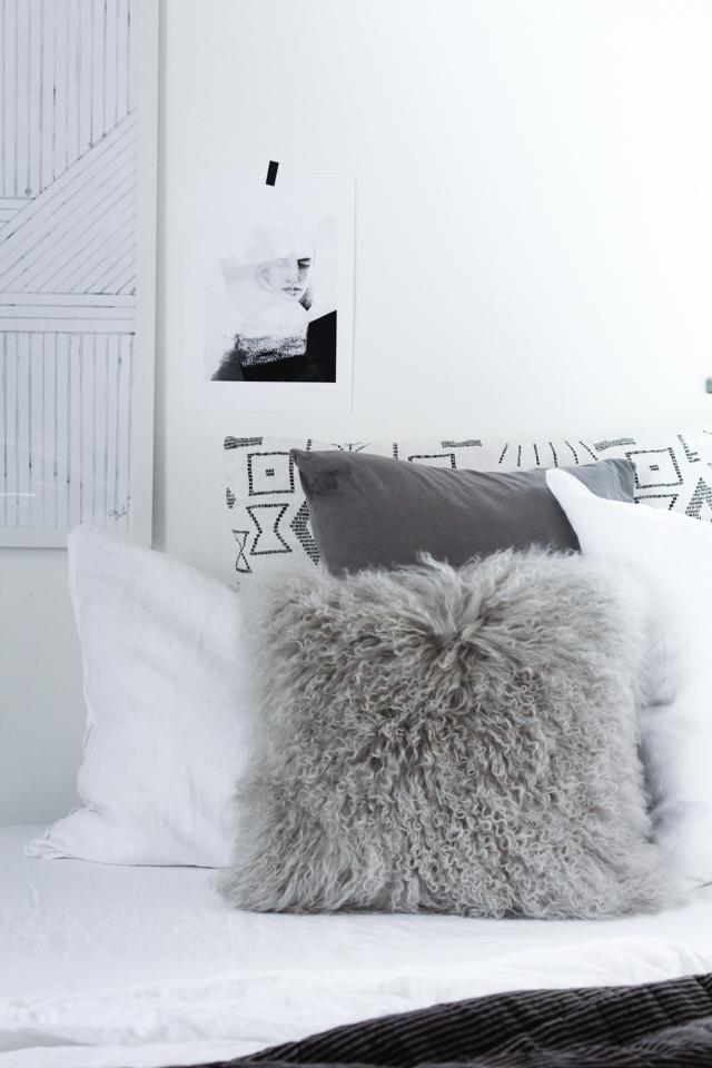 Scandinavische Herfst Slaapkamer Interieur Inrichting